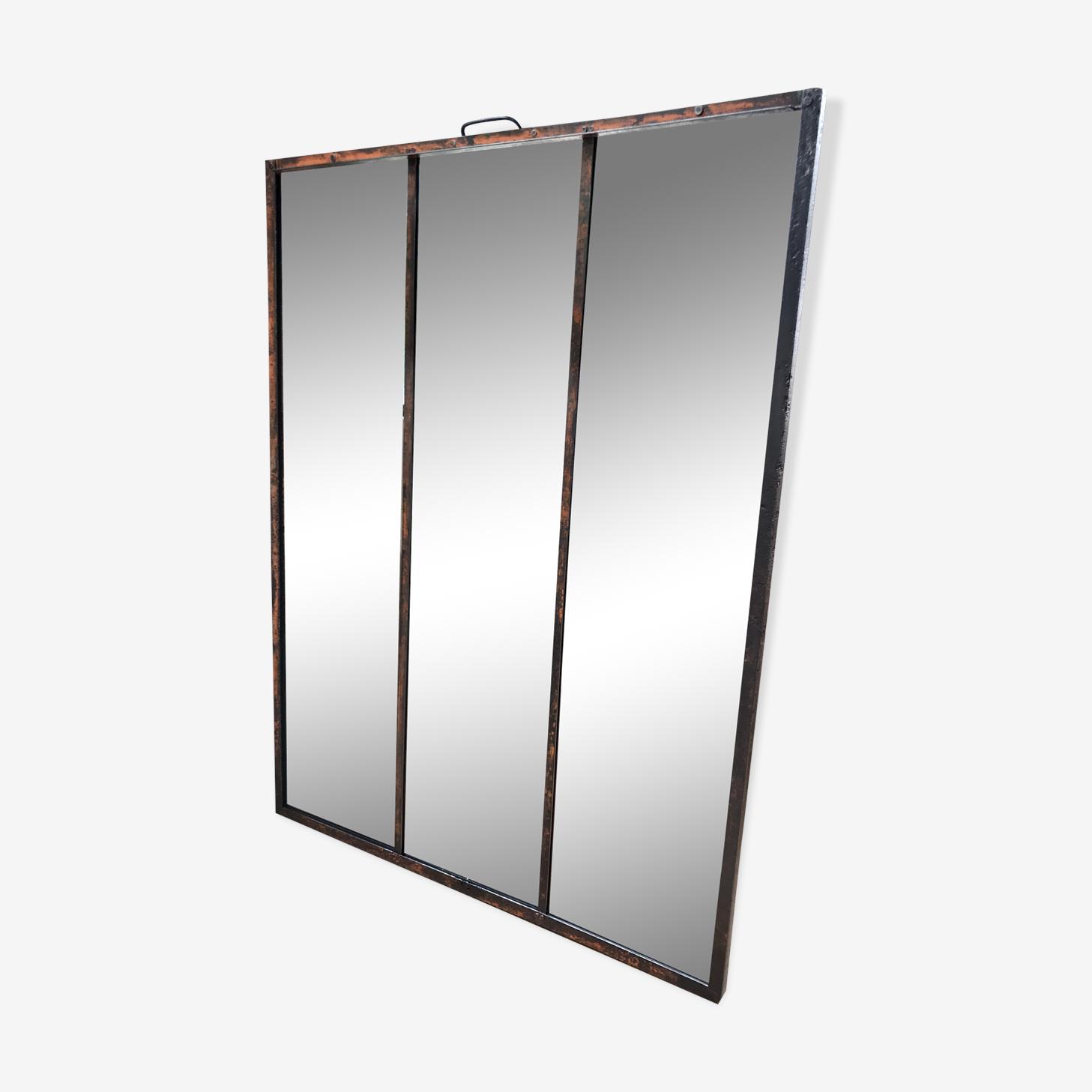 Miroir industriel riveté 100x134cm