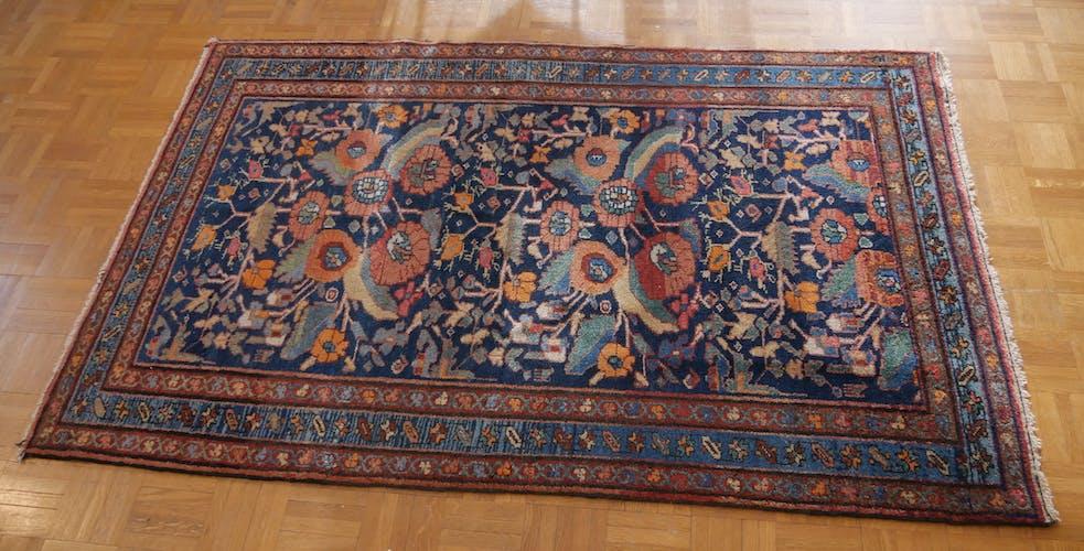 Tapis d'Orient persan iranien ancien laine - 155 x 100 cm