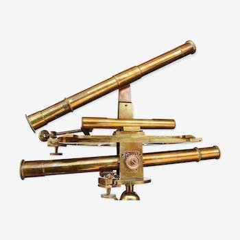 Appareil de mesure d'architecte théodolite laiton XIXème