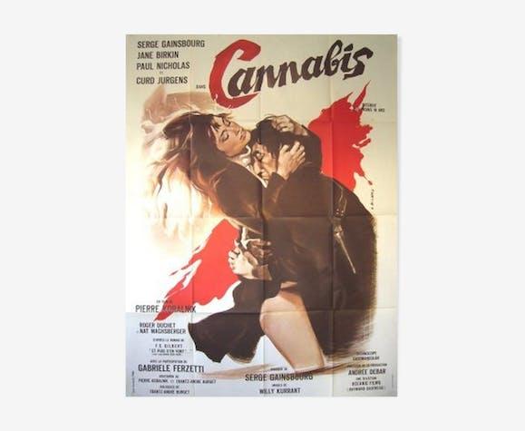 Affiche cinéma originale 1970 cannabis serge gainsbourg jane birkin 120x160 cm