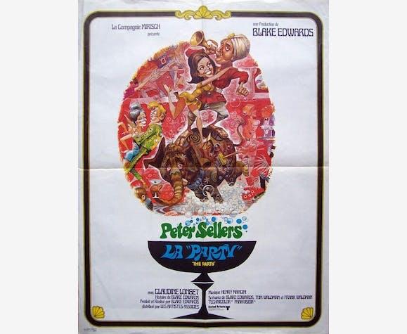 Affiche cinéma originale 1968.La party,Black Edwards,Peter Sellers