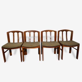 4 chaises vintage en bois