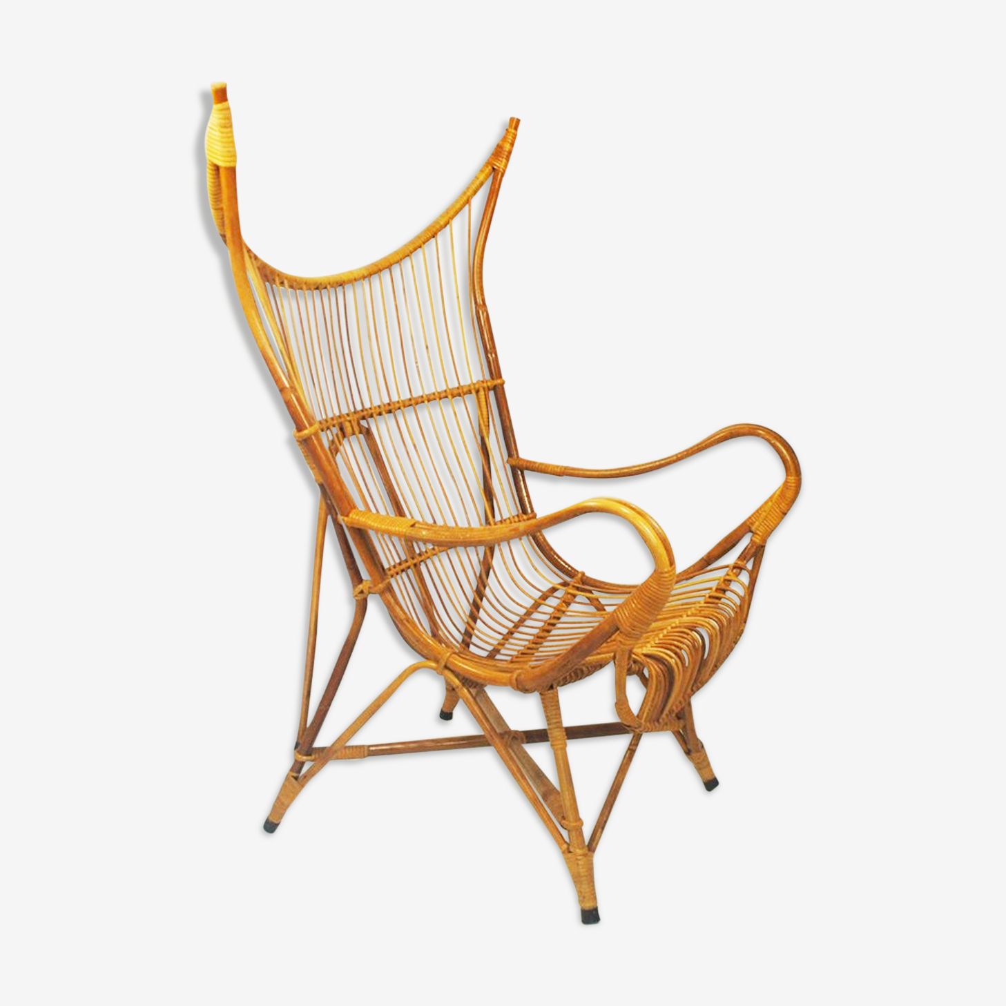 Armchair in rattan by Rohe Noordwolde