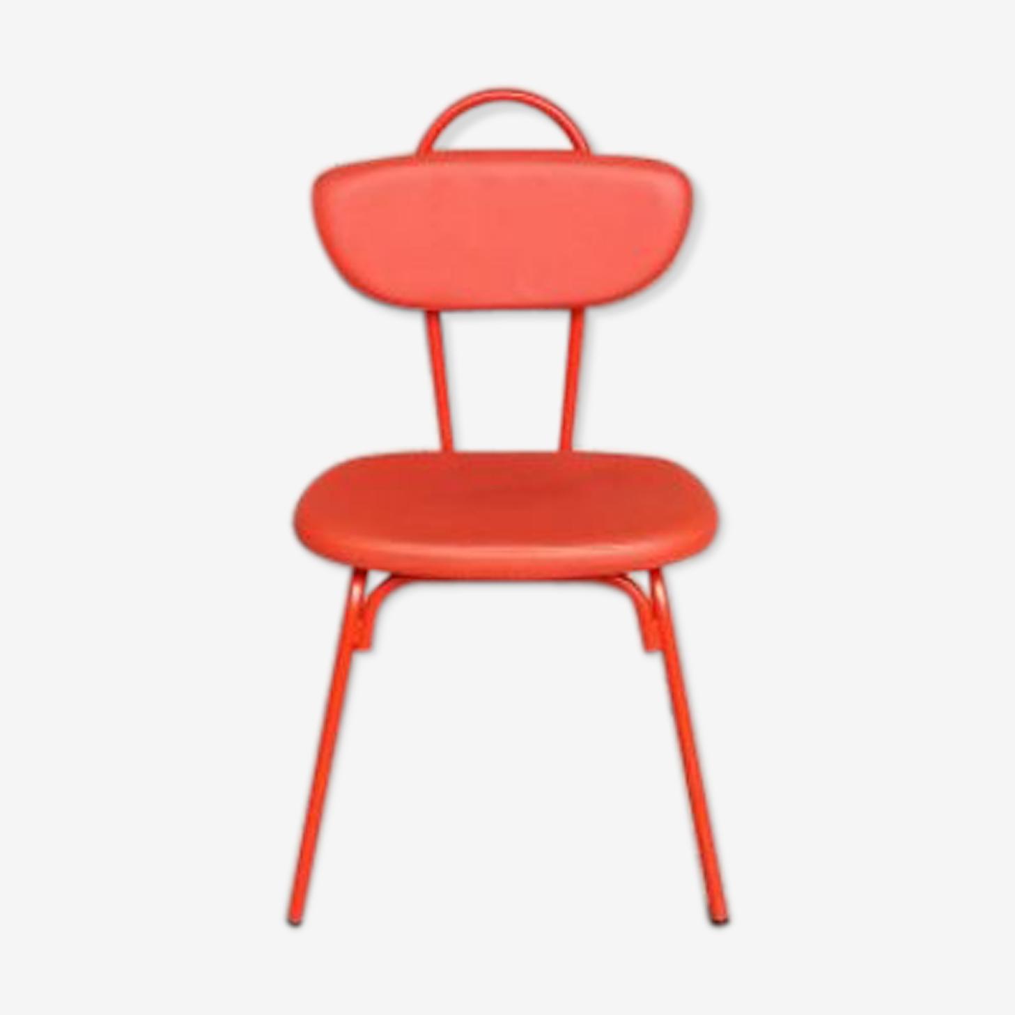 Chaises rouge orange