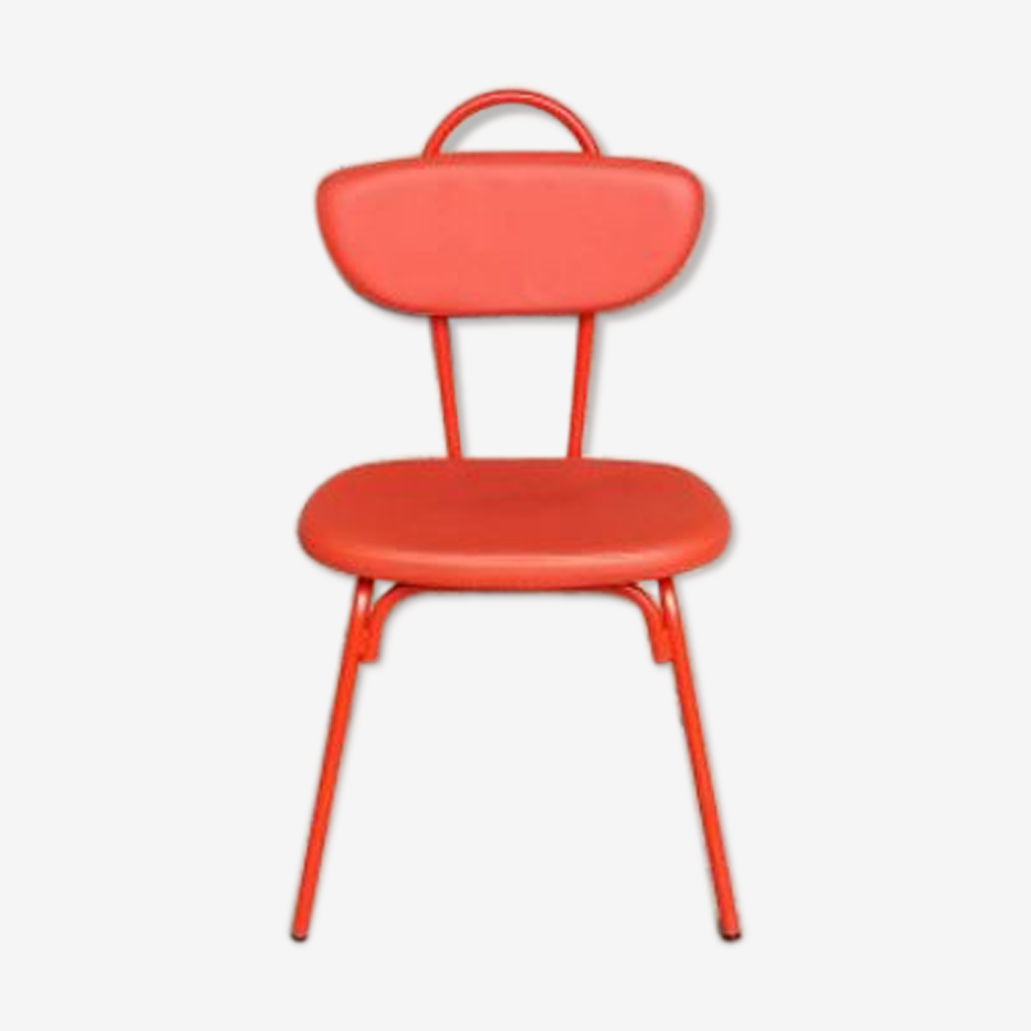 Red orange chairs /