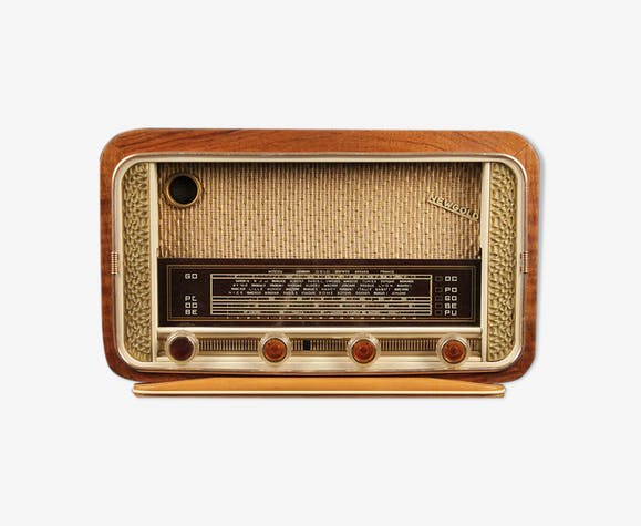 "Poste radio vintage bluetooth ""new gold"""
