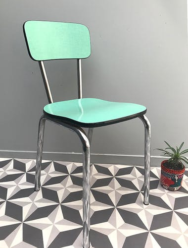 Chaise en formica mint