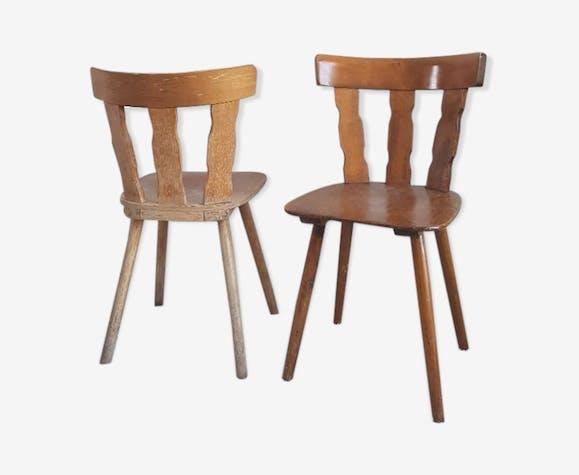 ̈Pair of vintage brutalist chairs circa 60 years