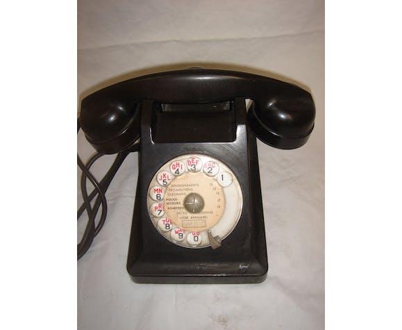 Téléphone bakélite de 1950 noir