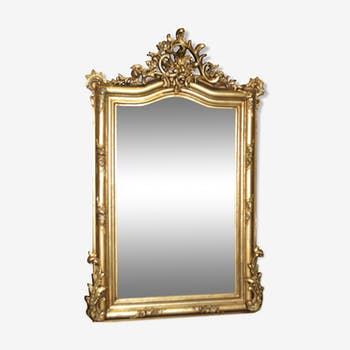 Louis XV style gold mirror