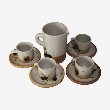 Ceramic La Colombe coffee set