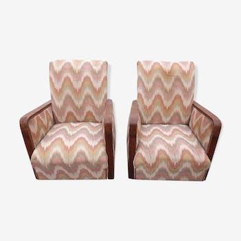 Paire de fauteuils des années 40