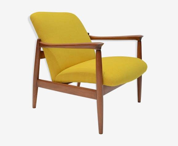 fauteuil gmf 64 sign e homa jaune - Fauteuil Jaune Scandinave