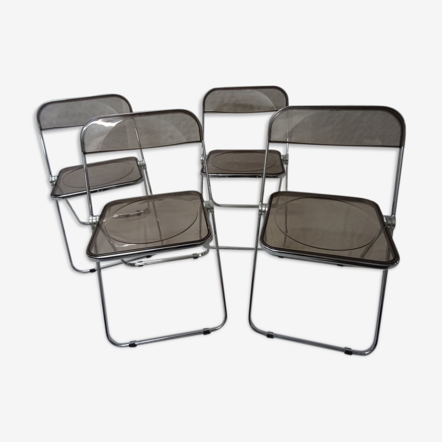 Série de 4 chaises Plia Castelli Giancarlo Piretti