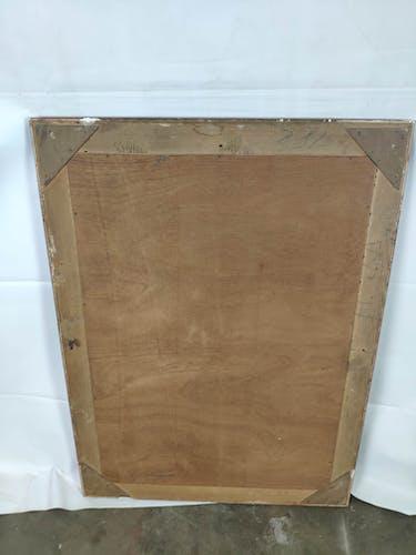 Golden mirror 102x45cm