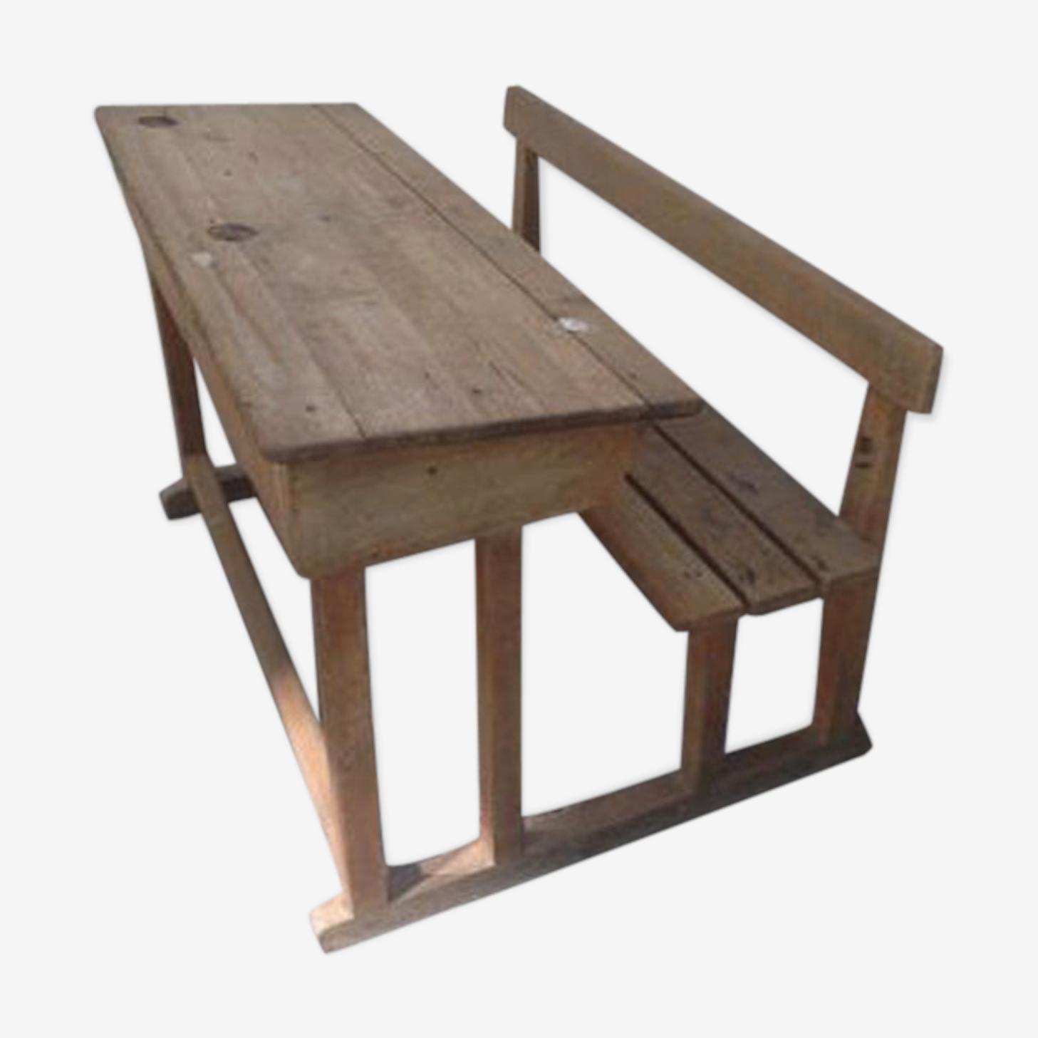School solid oak desk 50's