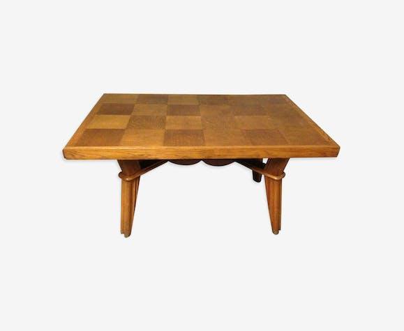 Table de salle manger 1950 en ch ne massif extensible for Salle a manger annee 1950