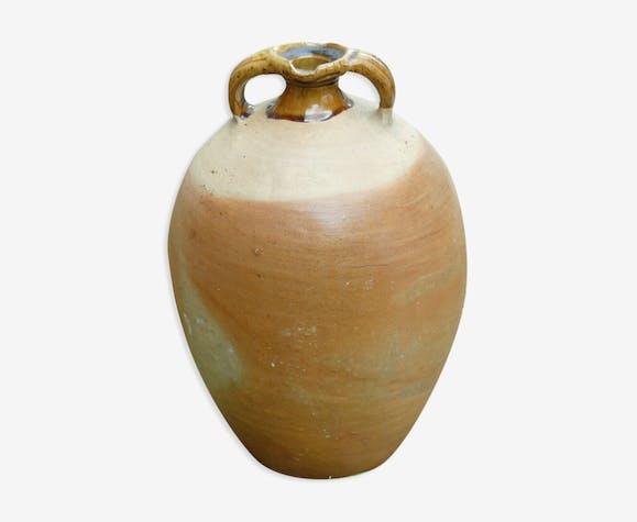 Cruche ovoïde grès du beauvaisis poterie art populaire