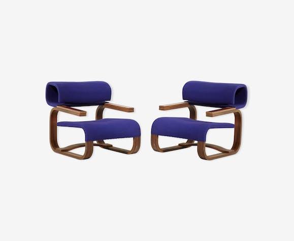 Paire de fauteuils brutaliste scandinave Bocan 1972