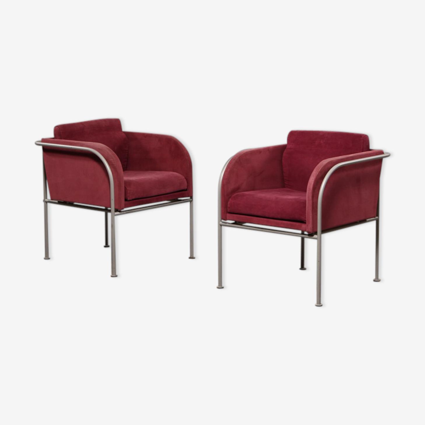 Paire de fauteuils scandinave des années 1970's