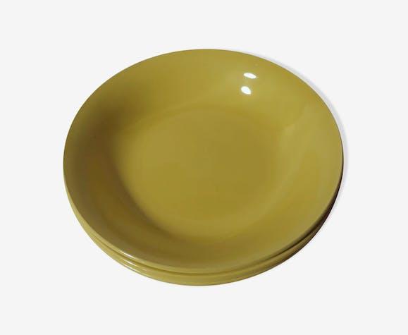 Lot 6 hollow plates Digoin Sarreguemines vintage