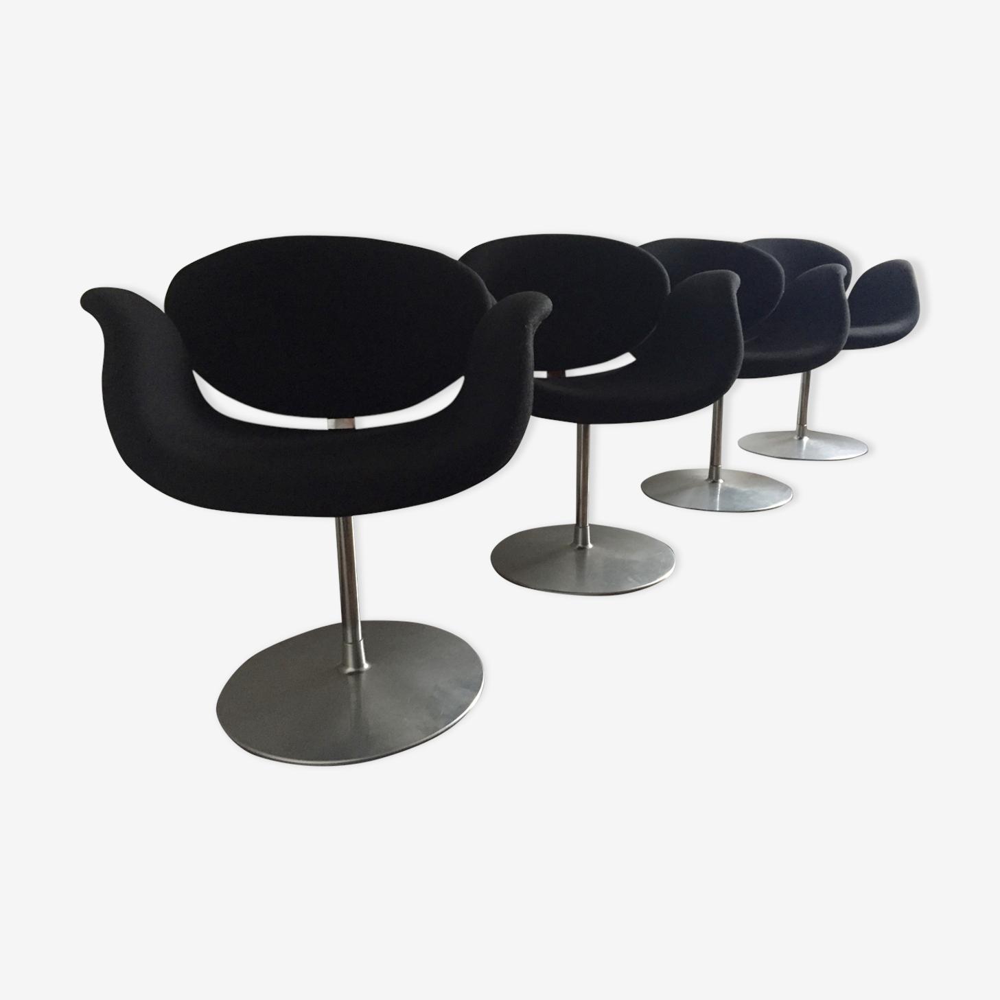 "Set of 4 armchairs ""little tulip"" by Pierre Paulin 1965"