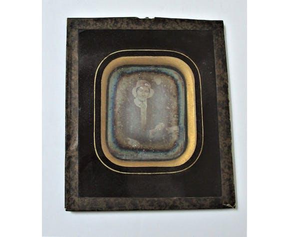 Photo Daguerréotype portrait de femme XIXème