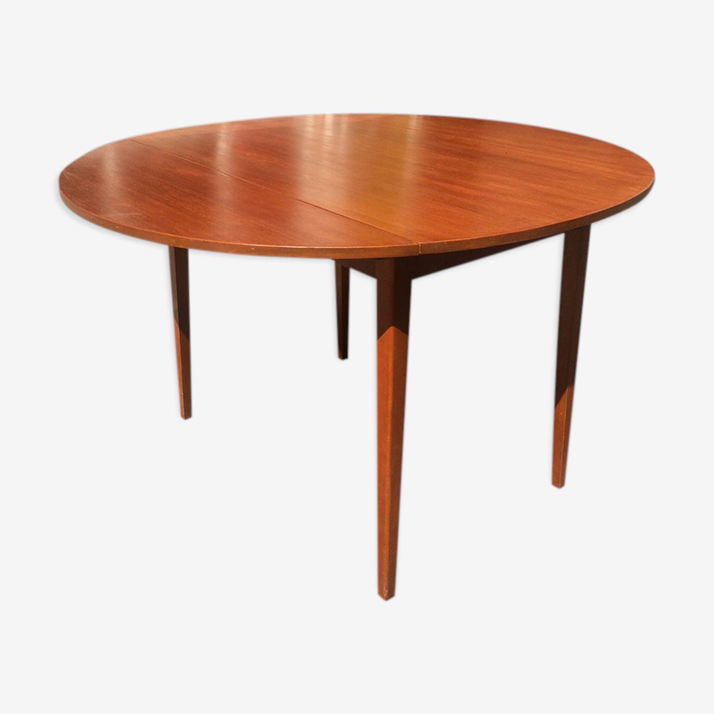 Table console à 2 volets en placage teck 1960