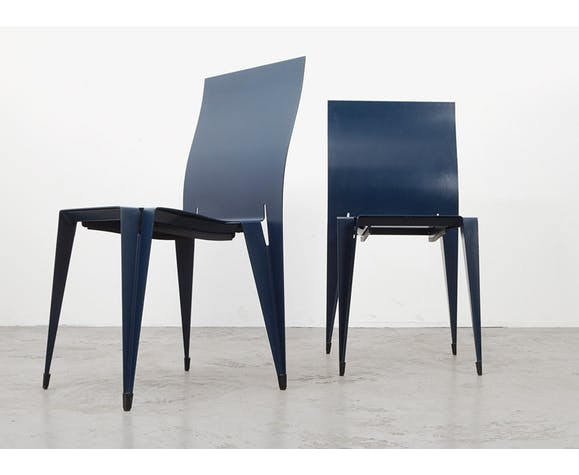 Pair of Fulfil dining chairs Mart van Schijndel  for Lensvelt 1989