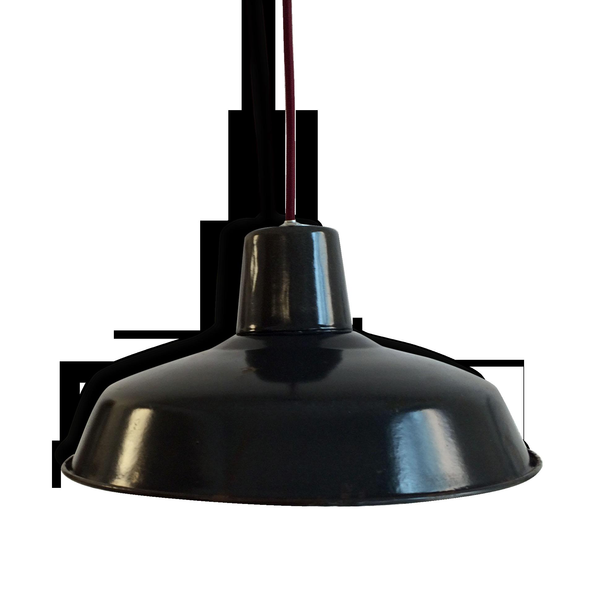 Lampe Industrielle Suspension Métal Tôle émaillée Atelier Usine