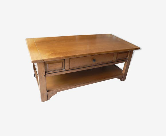 Table Basse En Chene Massif Rustique J Leleu
