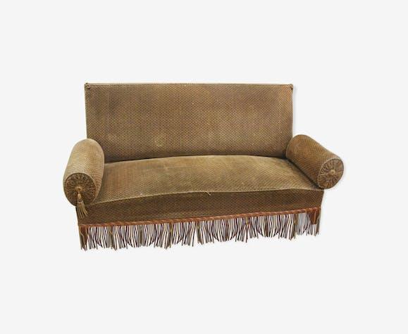 Velvet fringe sofa