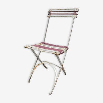 Folding garden chair wrought iron