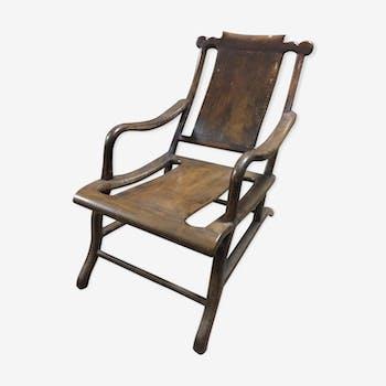 chaise longue ancienne en rotin rotin et osier bois. Black Bedroom Furniture Sets. Home Design Ideas
