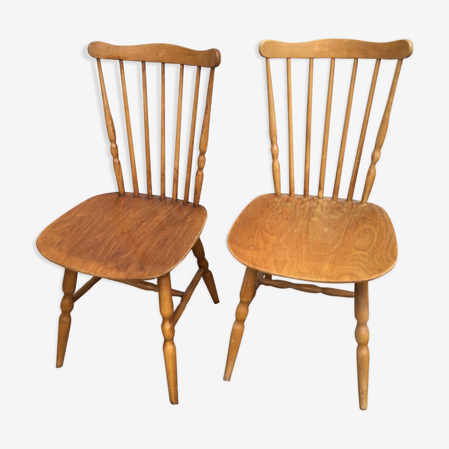 Paire de chaises Baumann modèle Tacoma