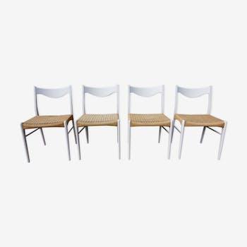 Set of 4 chairs Scandinavian by Peder Kristensen for Stolefabrik Glygore