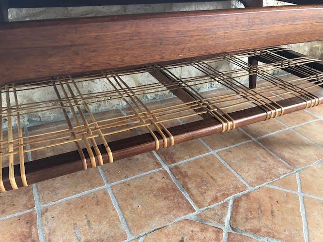 Table basse scandinave en teck circa 60