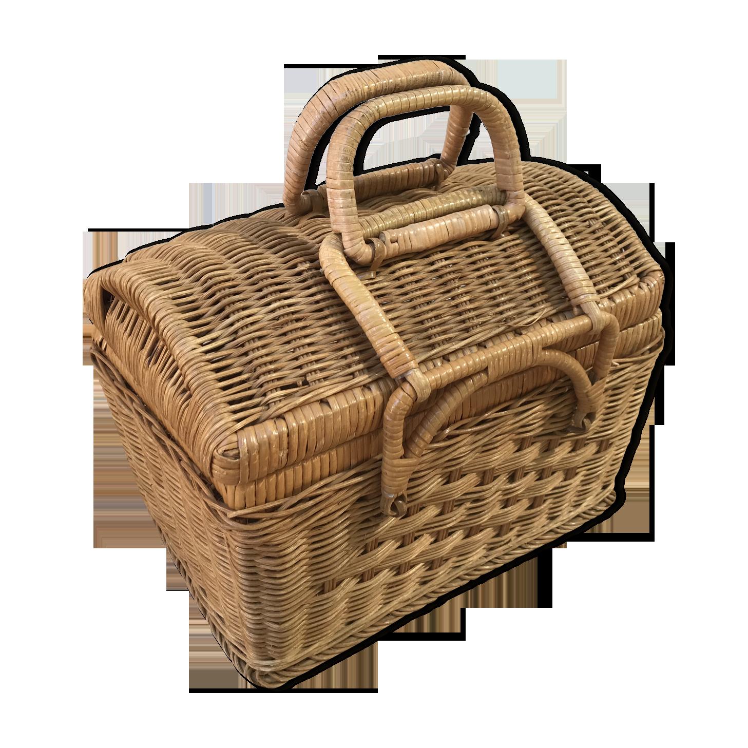 Peindre Un Panier En Osier design du xxe siècle panier picnic ancien rotin osier tressé