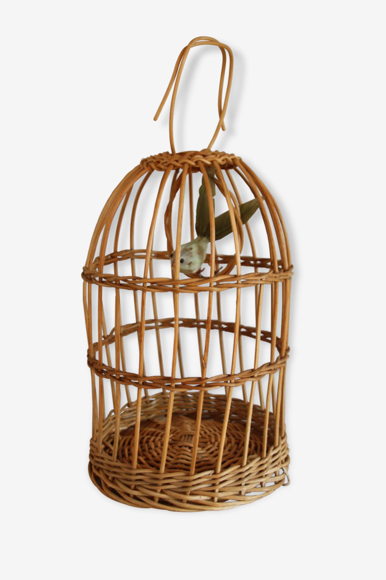 Ancienne cage à oiseaux années 60