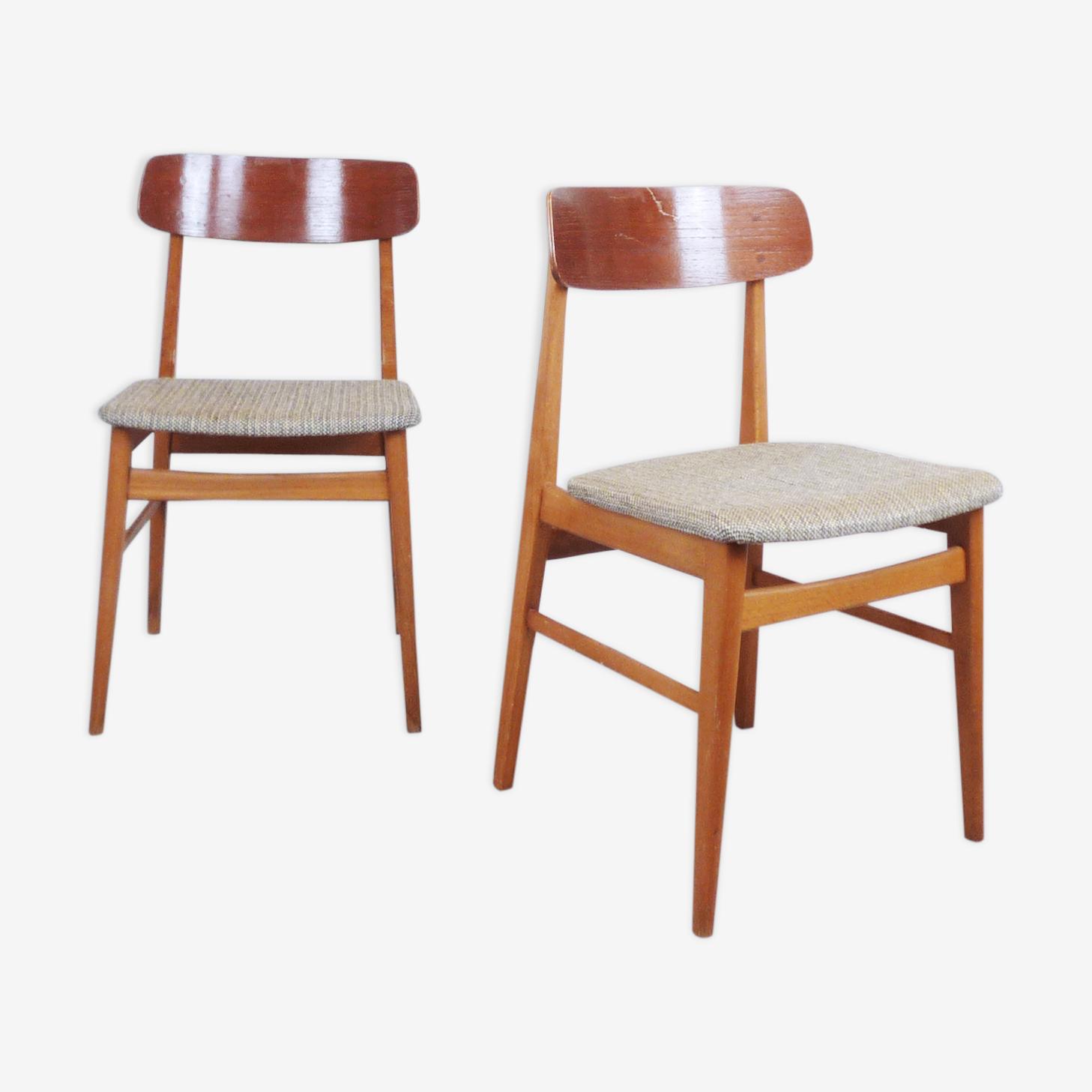 Danish chairs in teak, 1950