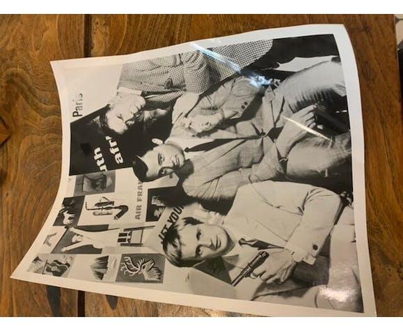 Photographie de cinéma vintage encadrée noir et blanc