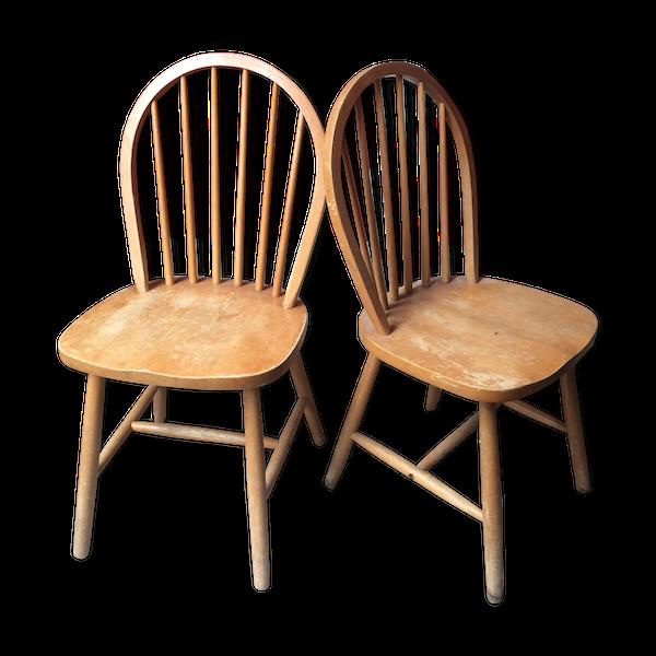 2 chaises vintage design scandinave