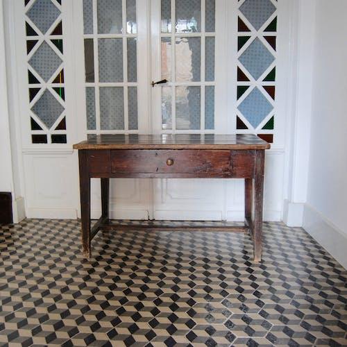 Table de ferme bois foncé