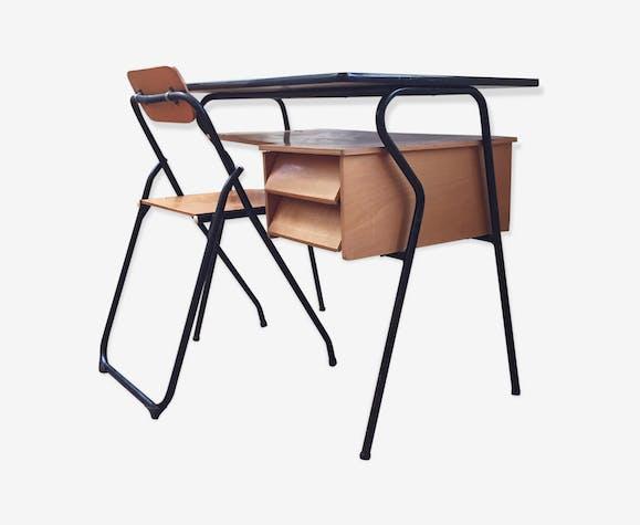 Bureau formica et chaise formica jaune vintage cciajyw