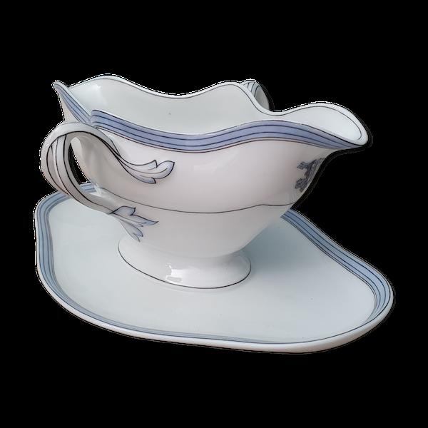 Sauciere en porcelaine monogramme V.Etienne Paris