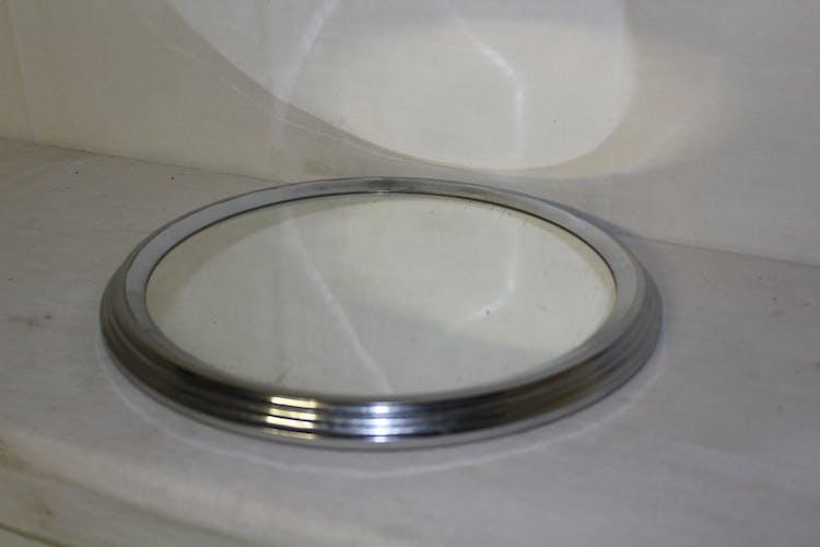Plat miroir rond XXème siècle