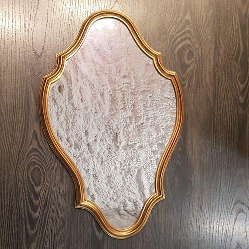Miroir chantourné doré 38x60cm