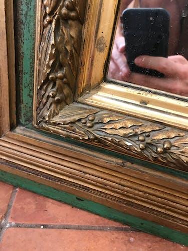 Wooden mirror 1940 - 59x67cm