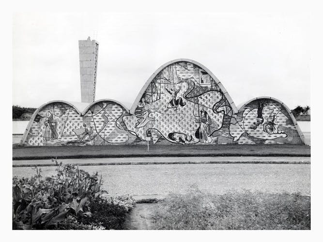 Photograph of The Church of St. Francis of Assisi by Oscar Niemeyer