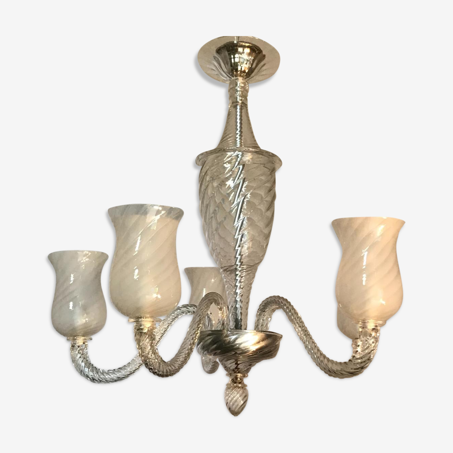Lustre en verre de Murano circa 1950